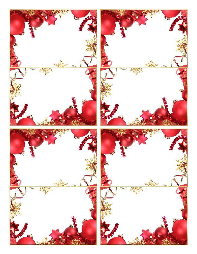 Marque Places Porte Noms De Noel Vierges Pour La Table A Imprimer