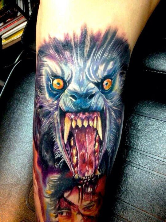 ab96b8313b708 Beware the moon, sweet tattoo! | Tattoo Ideas | Monster tattoo ...