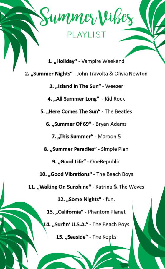 Die sommerlichsten Songs für einen langen Sommer - alle auf einer Playlist ♥