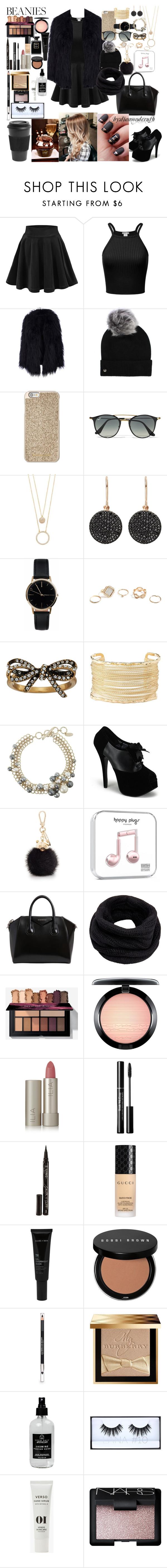"""""""Fluffy Beanie"""" by diamondcrush ❤ liked on Polyvore featuring UGG, Michael Kors, Ray-Ban, Kate Spade, Astley Clarke, Freedom To Exist, GUESS, Marc Jacobs, Charlotte Russe and Lanvin"""