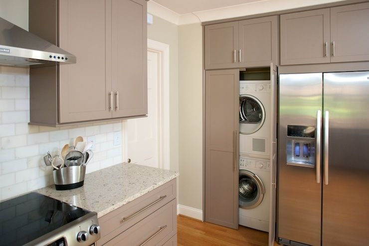 Twin Companies Laundry Mud Rooms Taupe Kitchen Taupe Cabinets Taupe Kitchen Cabinets Granite Coun Hidden Laundry Rooms Hidden Laundry Laundry In Kitchen