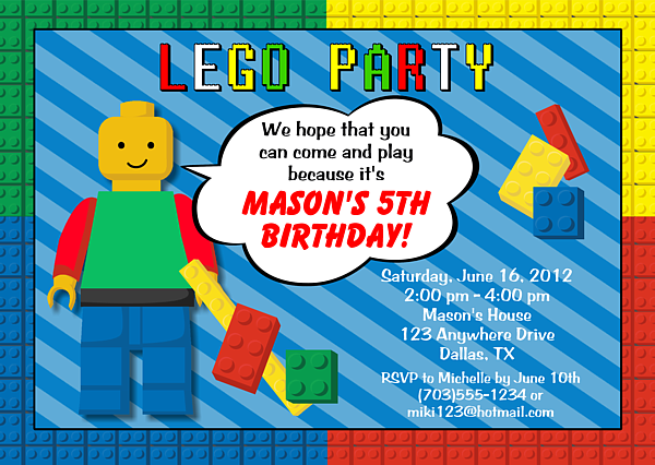 c6b64b216d04d226f7103b3e80795144 lego birthday party invitations www partyinvitationwording,Lego Party Invitation Ideas