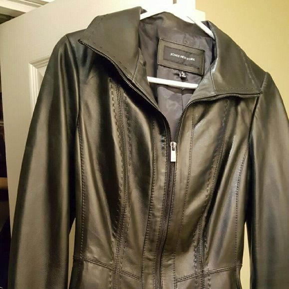 Genuine leather jacket Black leather from Macys Macy's Jackets & Coats