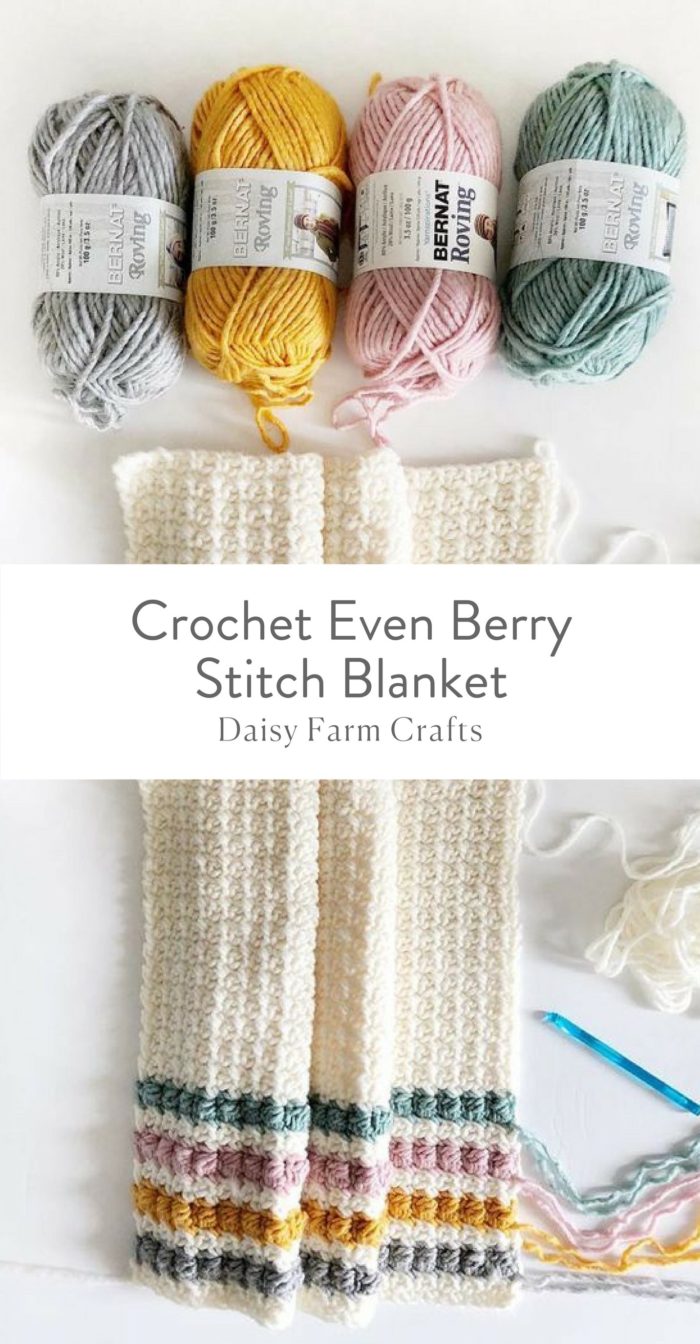 Free Pattern - Crochet Even Berry Stitch Blanket | TEJIDO ...