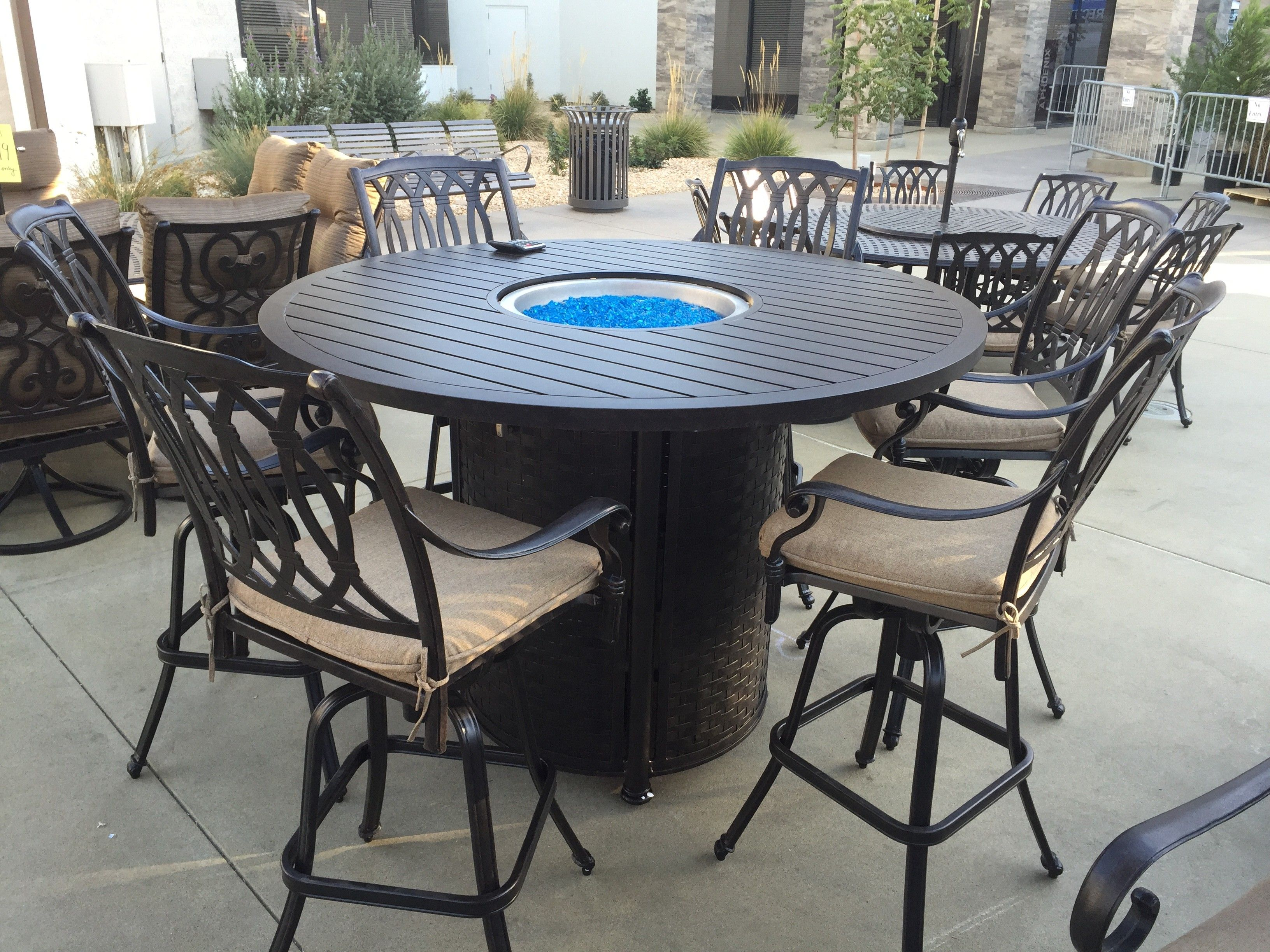 Bar Height Patio Furniture 7 Piece Fire Pit Patio Fire Pit