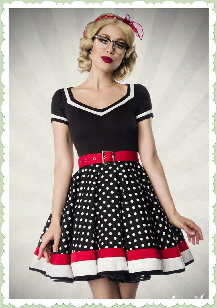 More and more kleid schwarz weiss