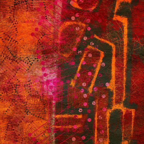 The Old Cells Studio - Michèle Brown Art: Pink Virus - Saturday iPad painting