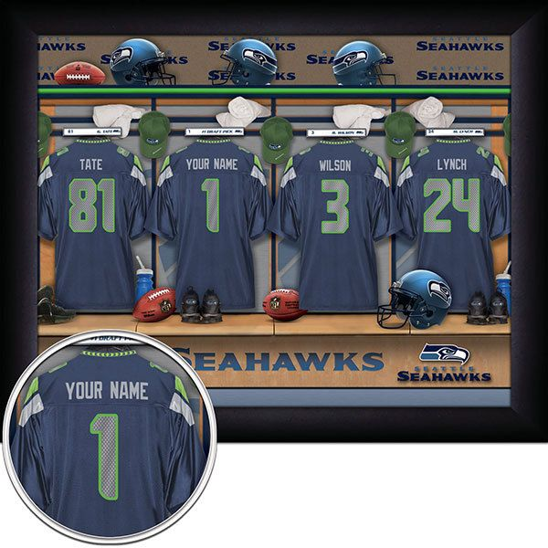 Seattle Seahawks NFL Football - Personalized Locker Room Print   Picture.  Have you or someone 6615c21a4