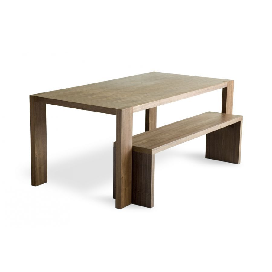 Gus modern plank dining table bench 1095