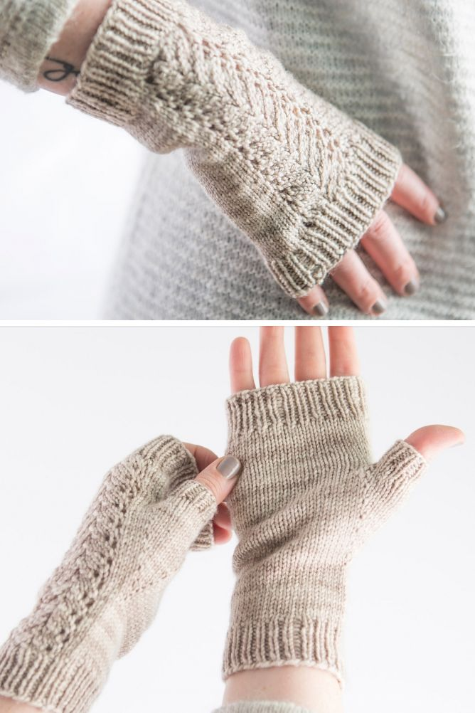 Free Knitting Pattern for Nested Fans Lace Mitts - Free with free ...