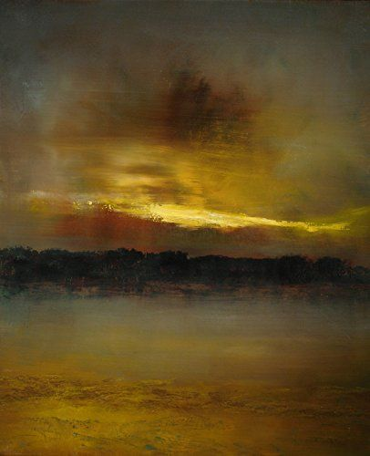 After Sundown 2 - Print. After Sundown 2 by Maurice Sapiro captures the fleeting moment of dimming light that happens just as day becomes night over a warm desert landscape. This piece is depicted in warm earthy tones contrasted with deep purple.