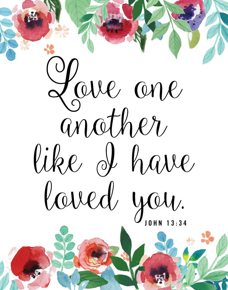 Smart image for love one another printable