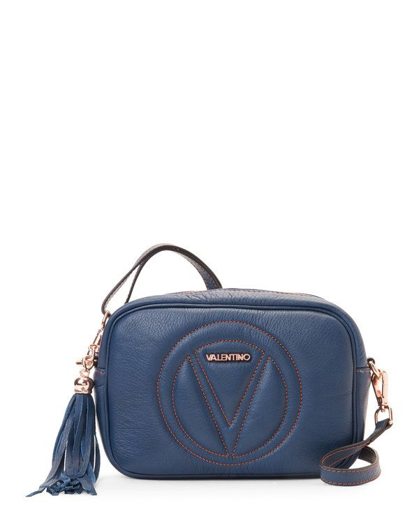 Check Out Blue Denim Leather Mia Crossbody From Century 21