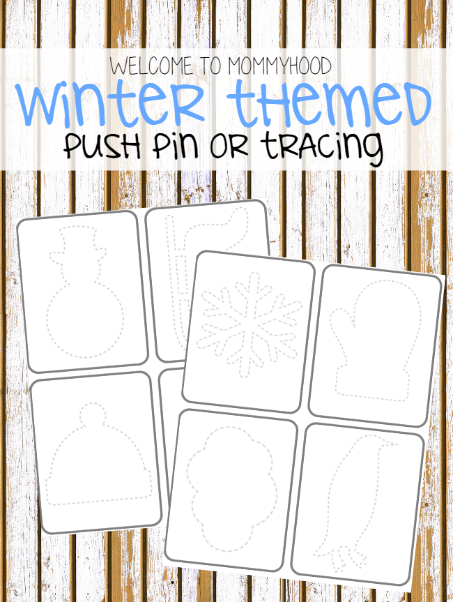 Winter Push Pin or Tracing Printables for winter learning activities ...