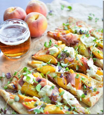 Prosciutto Flatbread with IPA-Caramelized Peaches | Cooking and BeerLife Food and Beer