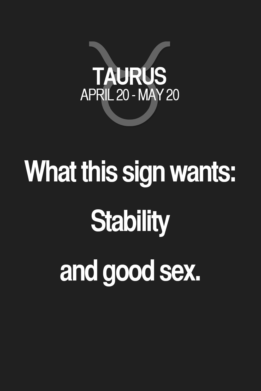 Taurus sex