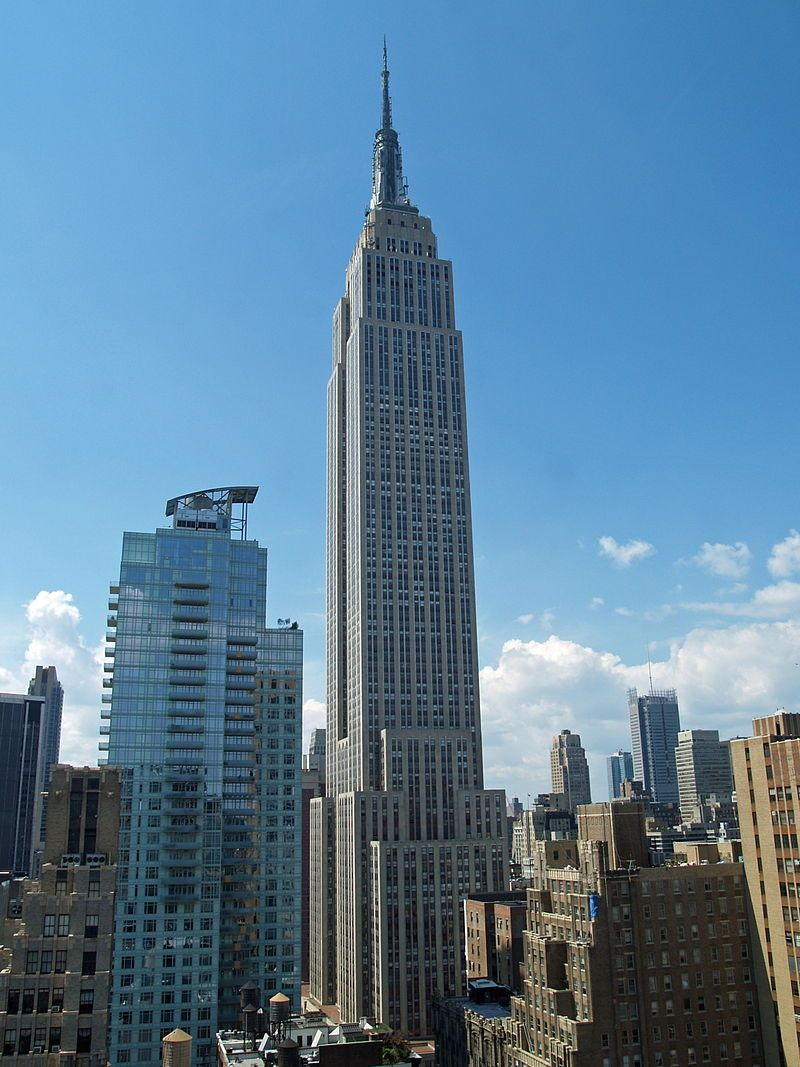 Empire State Building (Art Deco style) from a Park Avenue