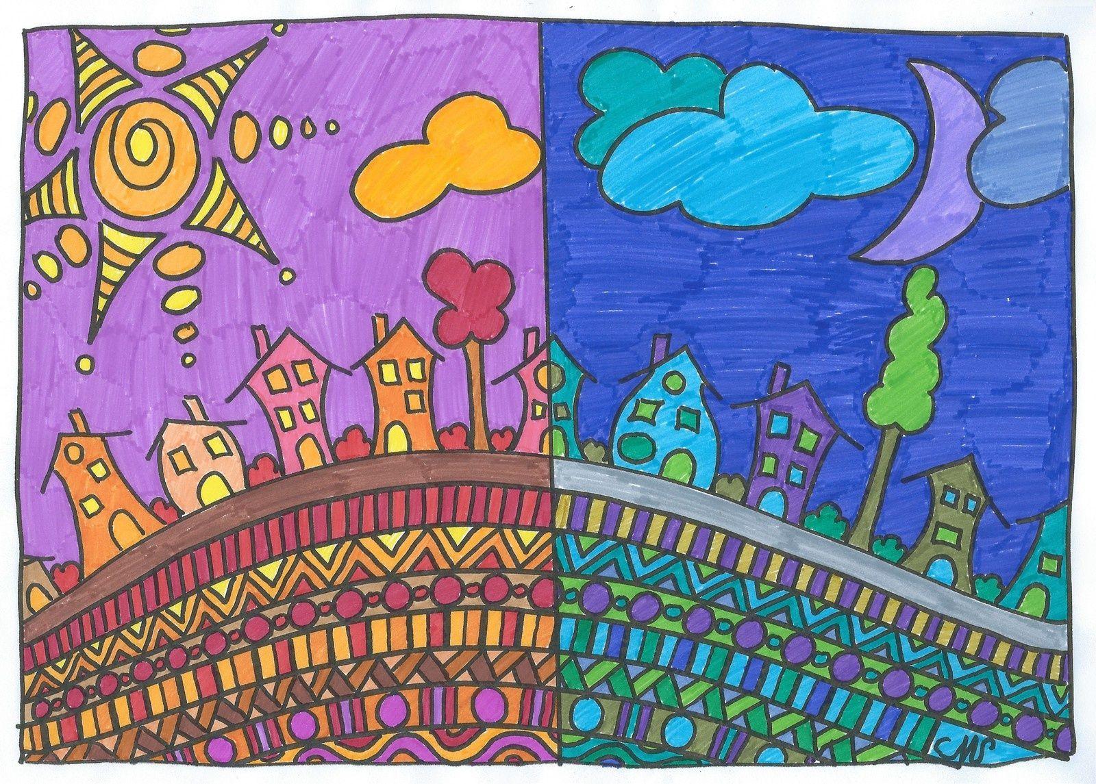 Arts visuels: couleurs chaudes et couleurs froides | arts ...