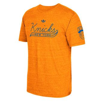 ... germany mens adidas orange new york knicks retro fit tri blend t shirt  d93a8 893f4 5587f9865