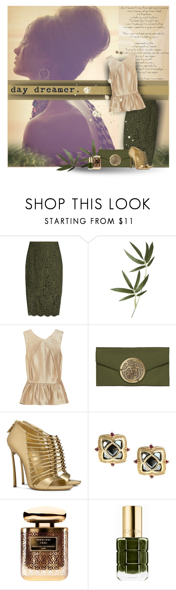 """Day dreamer"" by anna-survillo ❤ liked on Polyvore featuring Diane Von Furstenberg, Crate and Barrel, Mulberry, Dareen Hakim, Casadei, Dallas Prince, By Terry and L'Oréal Paris"