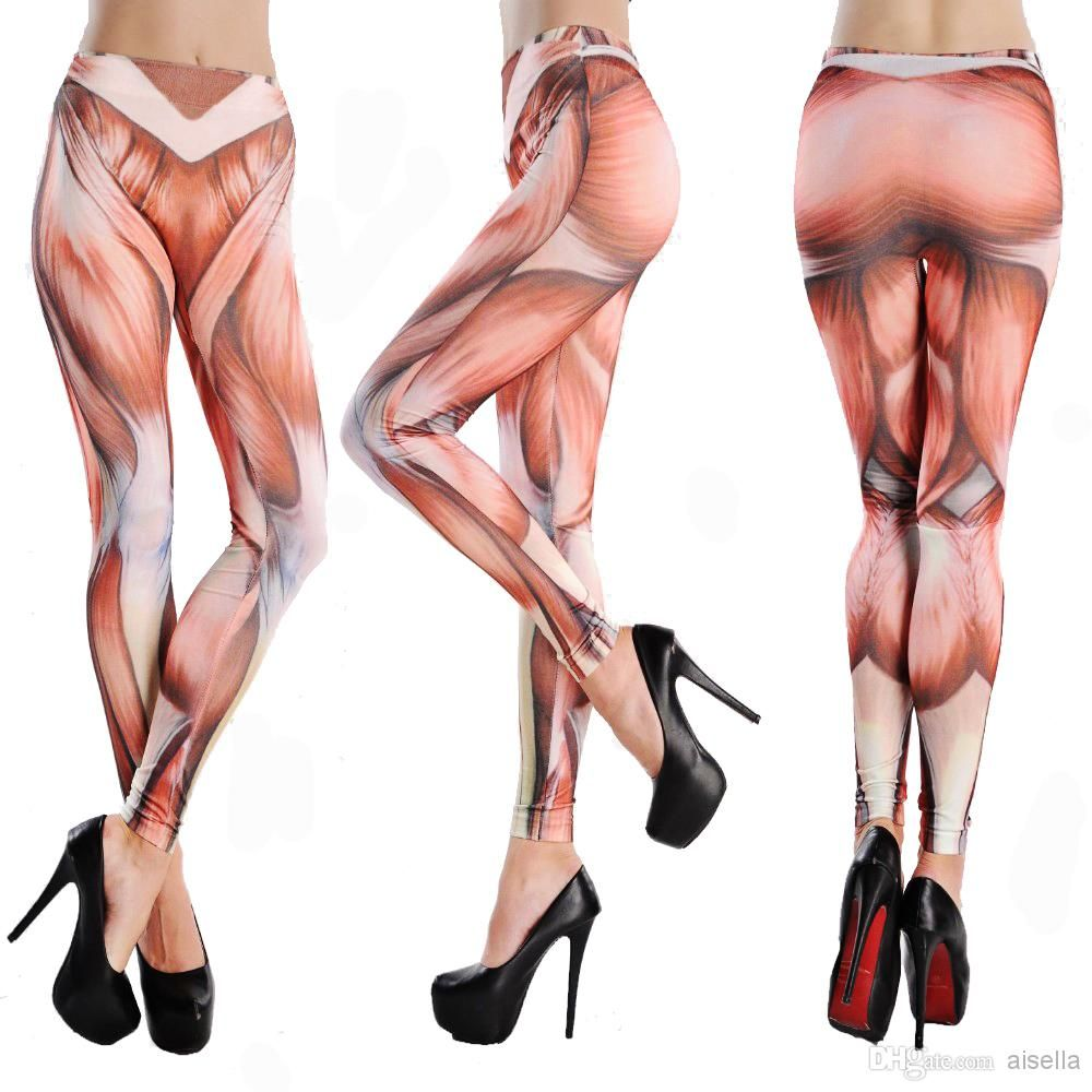 wholesale attack on titan punk womens leggings muscles printing, Muscles