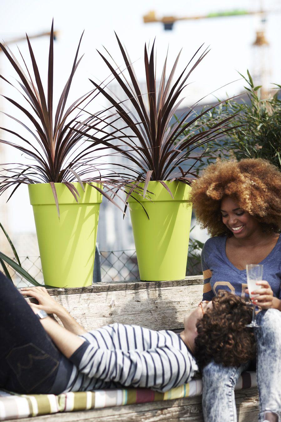 Colourful Outdoor Loft Urban High Limegreen Terrace Elho Pot