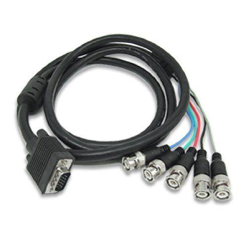 sf cable hd15 vga male to 5 bnc male cable 3 feet by sfcable rh pinterest com RGB BNC to VGA Pin Diagram BNC to VGA Splitter