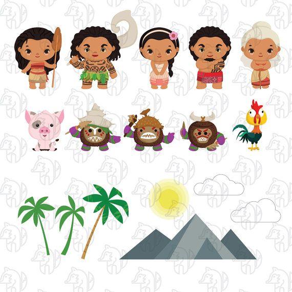 Polynesian Princess clip art, Polynesian birthday