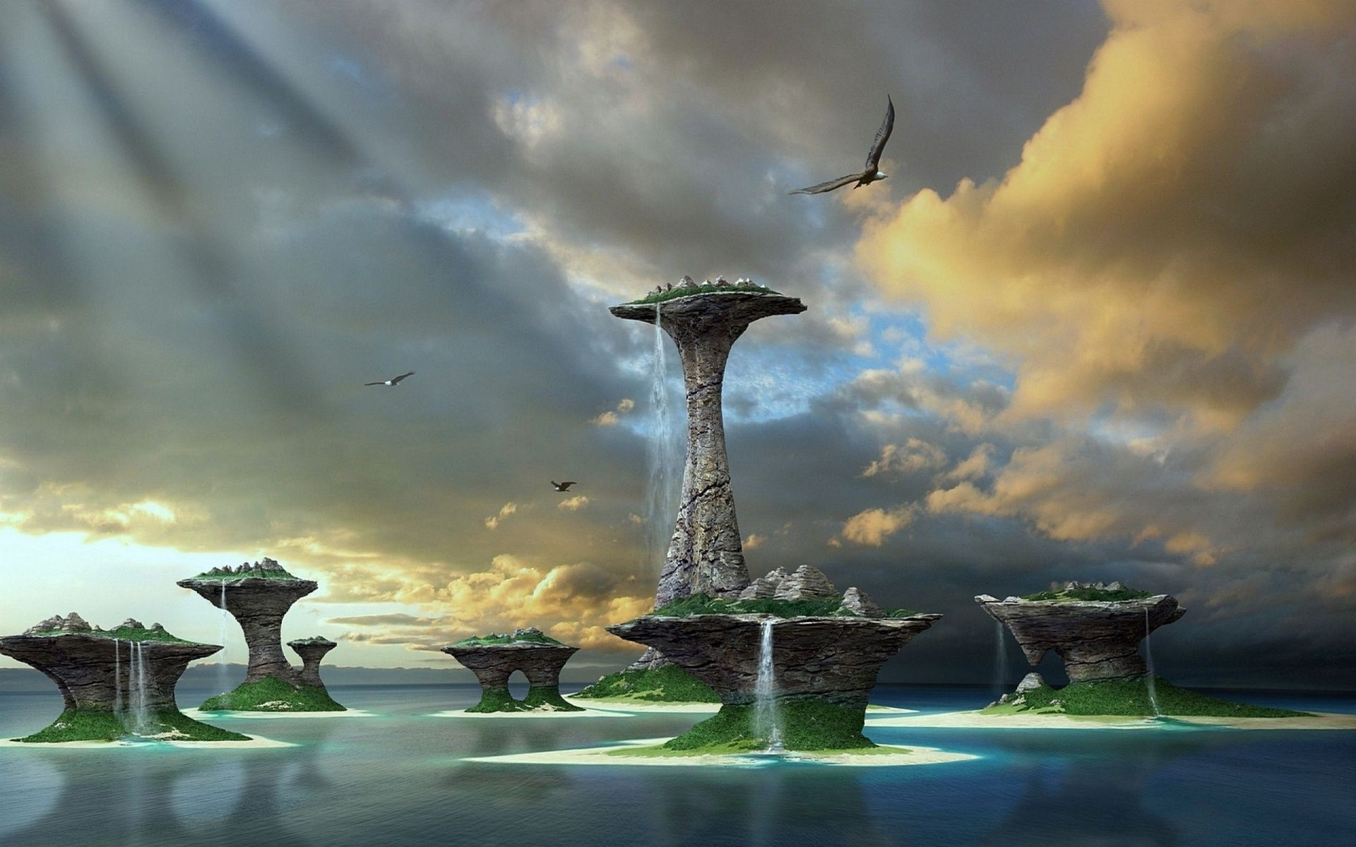 D Fantasy World Full HD Wallpaper and Background x ID