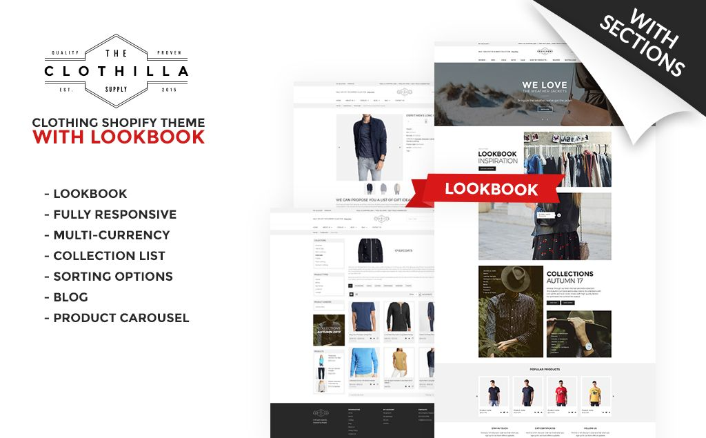 Clothilla - Clothing Store Shopify Theme #66149