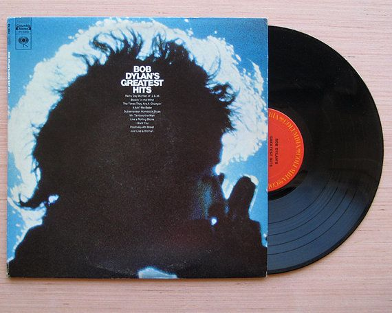 Bob Dylan Greatest Hits Vinyl Record Lp With Rare Giant Poster Folk 1960 S Bob Dylan Vinyl Records Giant Poster