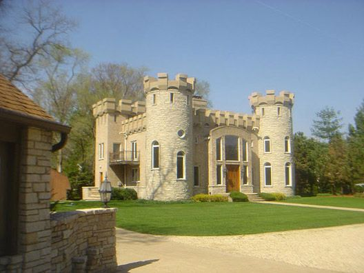 A Castle In Illinois Castle House Design Castle House Small Castles