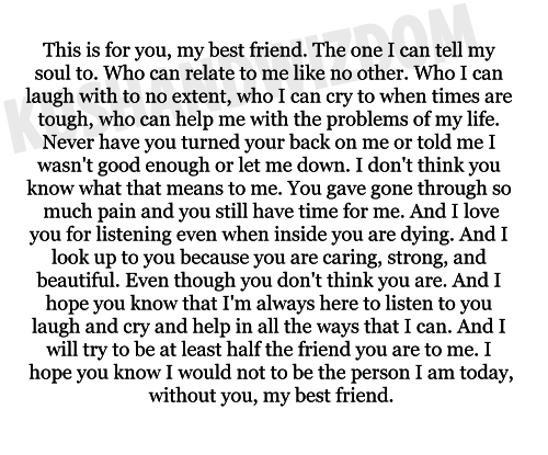 Cute Letters To Your Best Friend  Google Search  Friendship