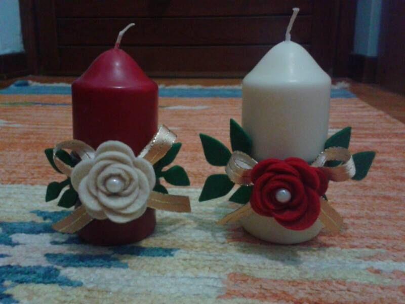 Candele Bagno ~ Best candele decorate images feltro all star