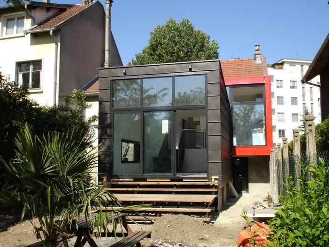 Bonne id e d 39 extension cube bardage id maison - Agrandissement entree maison ...