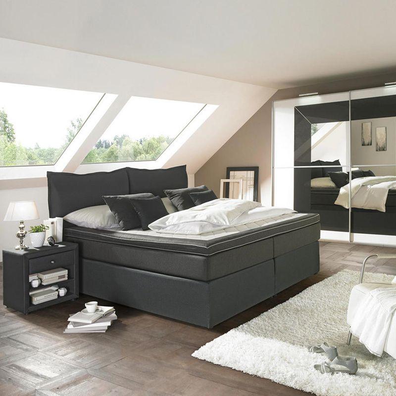 Schlafzimmer Einrichten Anthrazit Bett