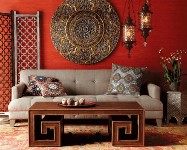 Moroccan Style Living Room Accessories Interior Design For With Dining 21 Ways To Add Decor Accents Modern Decorating Ideas Bright Red Color Unique Lamps Furniture And Decorative