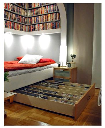 love the IKEA Media Hack Bed, perfect storage idea