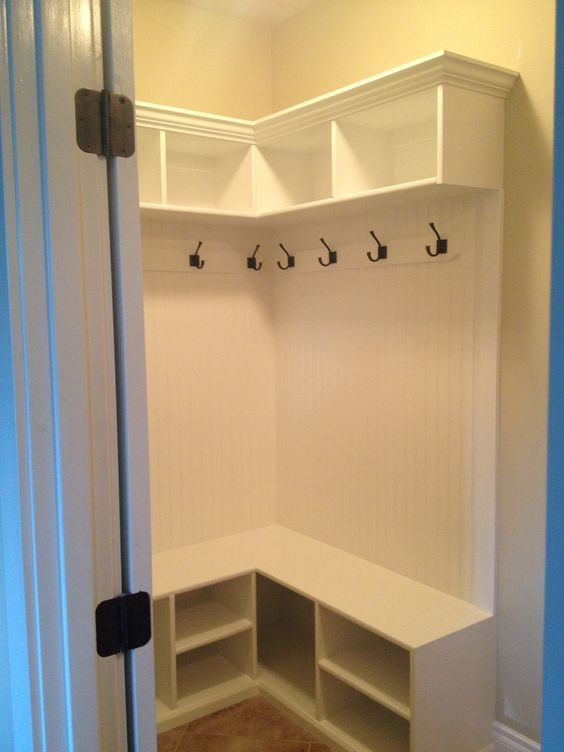 Storage Ideas · L Shaped Mudroom Cubbies ...