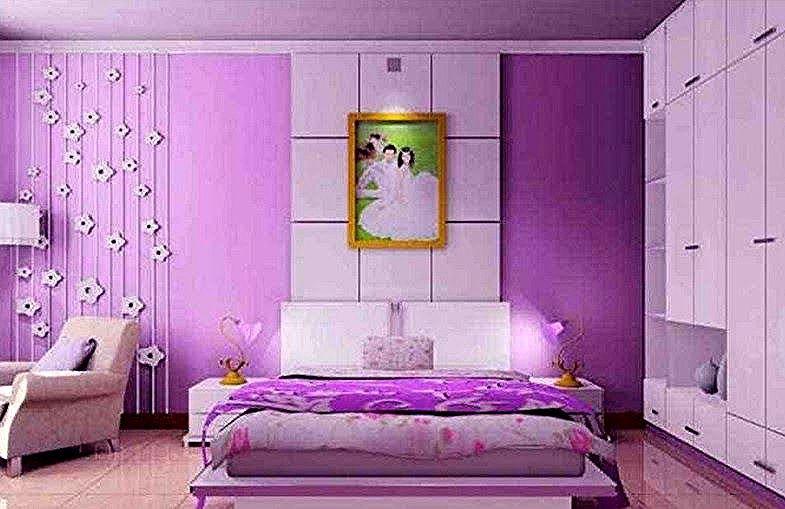 Cat Kamar Tidur Warna Warni