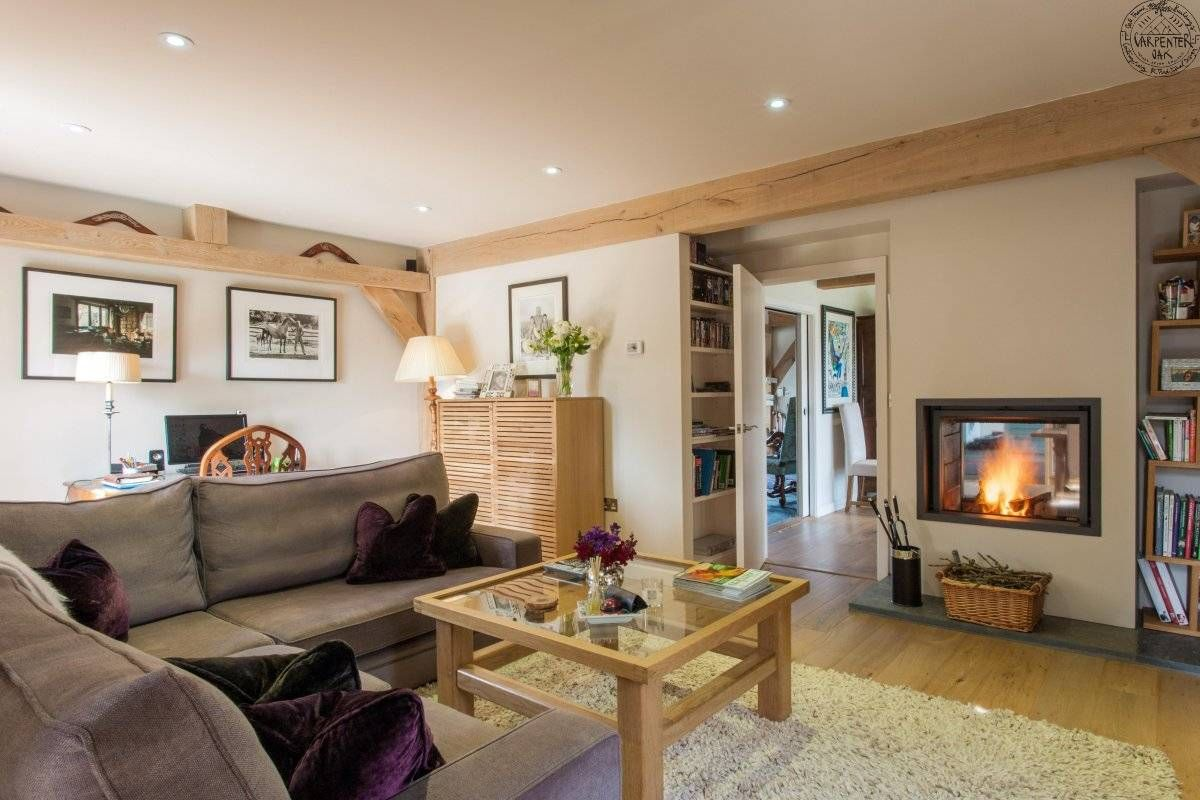 Snug Room Design Ideas Part - 20: Double Sided Stuv Fireplace Between Snug And Dining Room