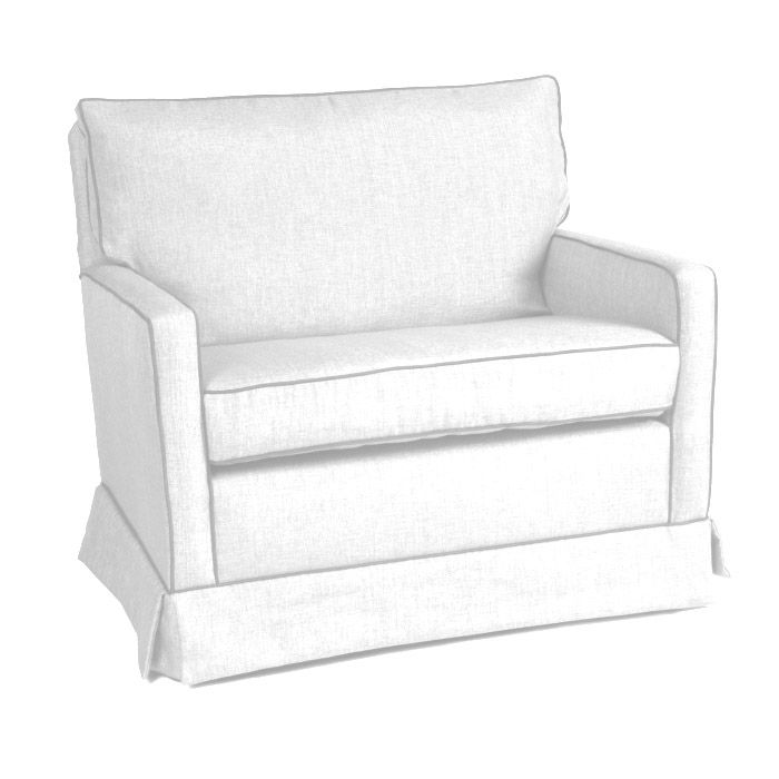 Custom Mesa Chair And A Half Glider By Little Castle Nursery Gliders Upholstered