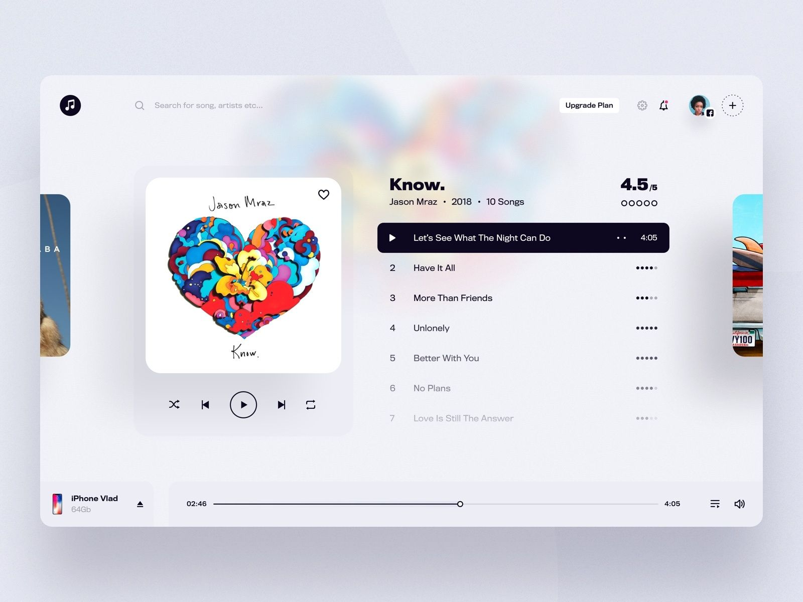 Web Music App Player Music App Design Music App Web App Design