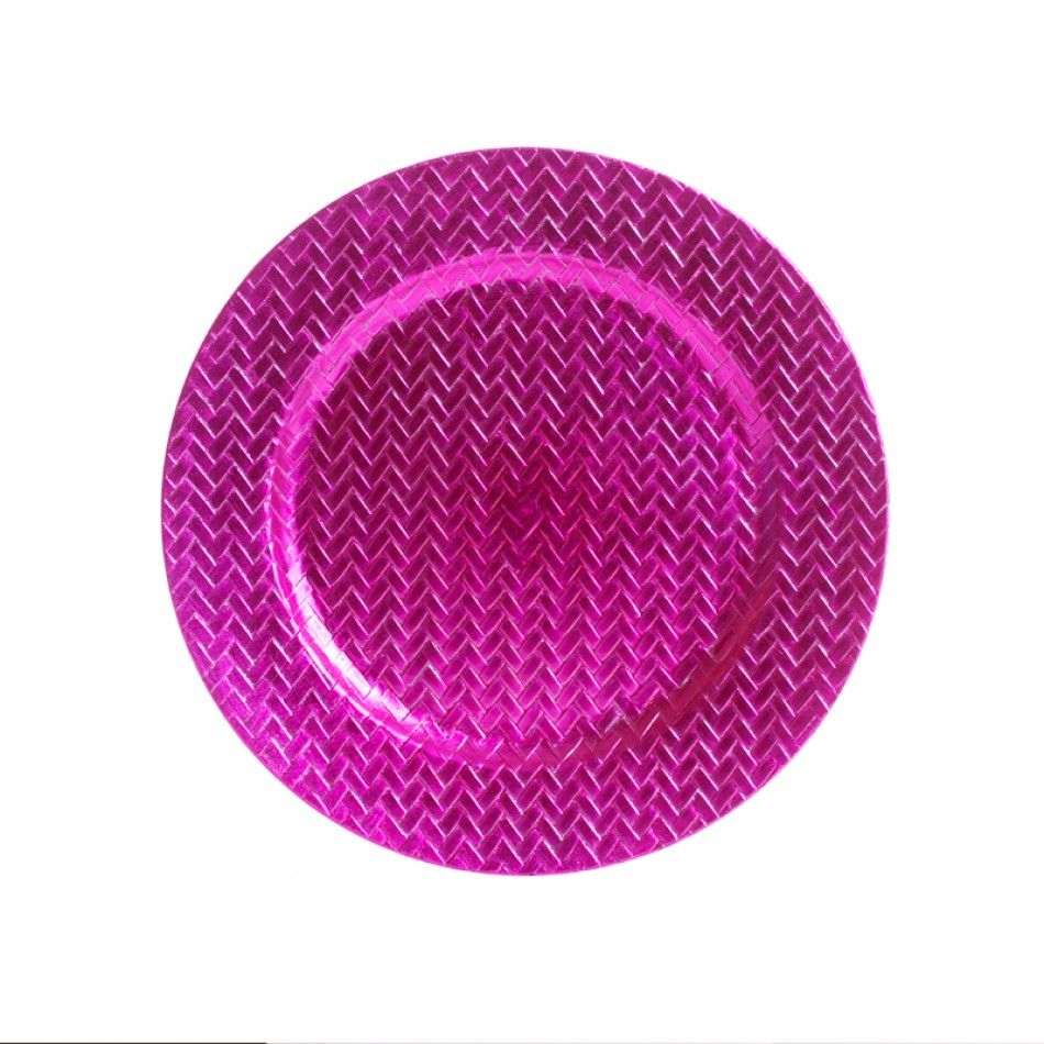 Hot Pink Classic Charger Plates BULK (24 Plates) [402609 Hot Pink ...