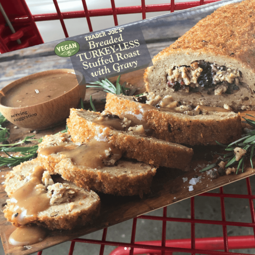 Trader Joe S Releases New Vegan Products For Thanksgiving And Christmas Vegan Turkey Vegan Thanksgiving Trader Joes Vegan