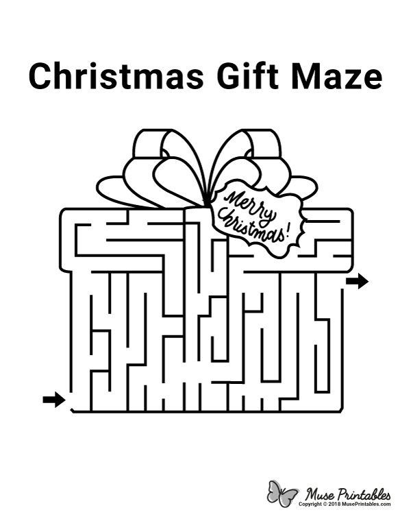 Free Christmas gift maze. Download the maze and solution ...