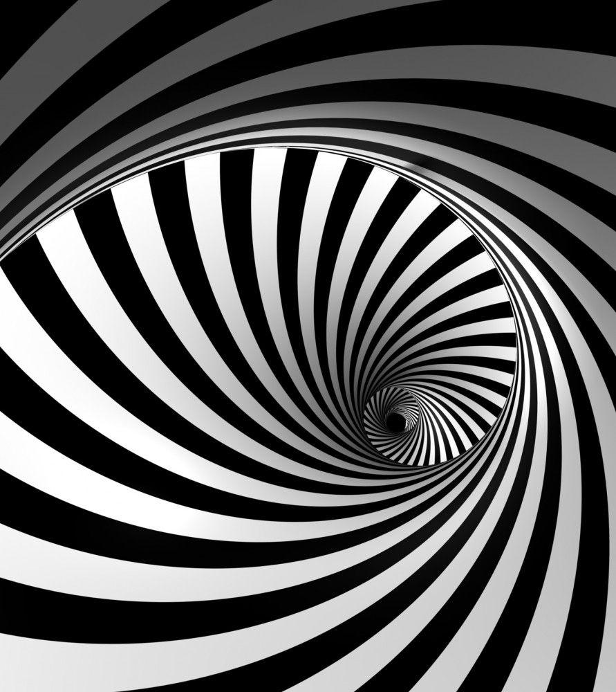 Wall mural wallpaper helix 3d effect black white photo 180 for 3d effect wallpaper