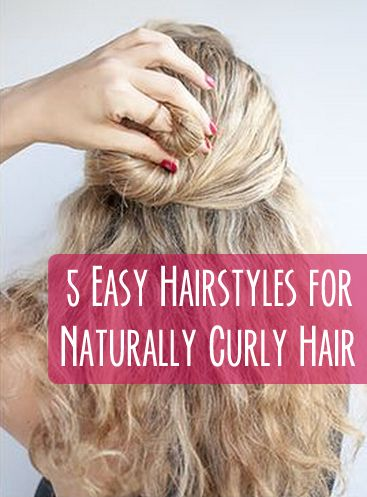 5 Easy Hairstyles For Naturally Curly Hair With Images Curly