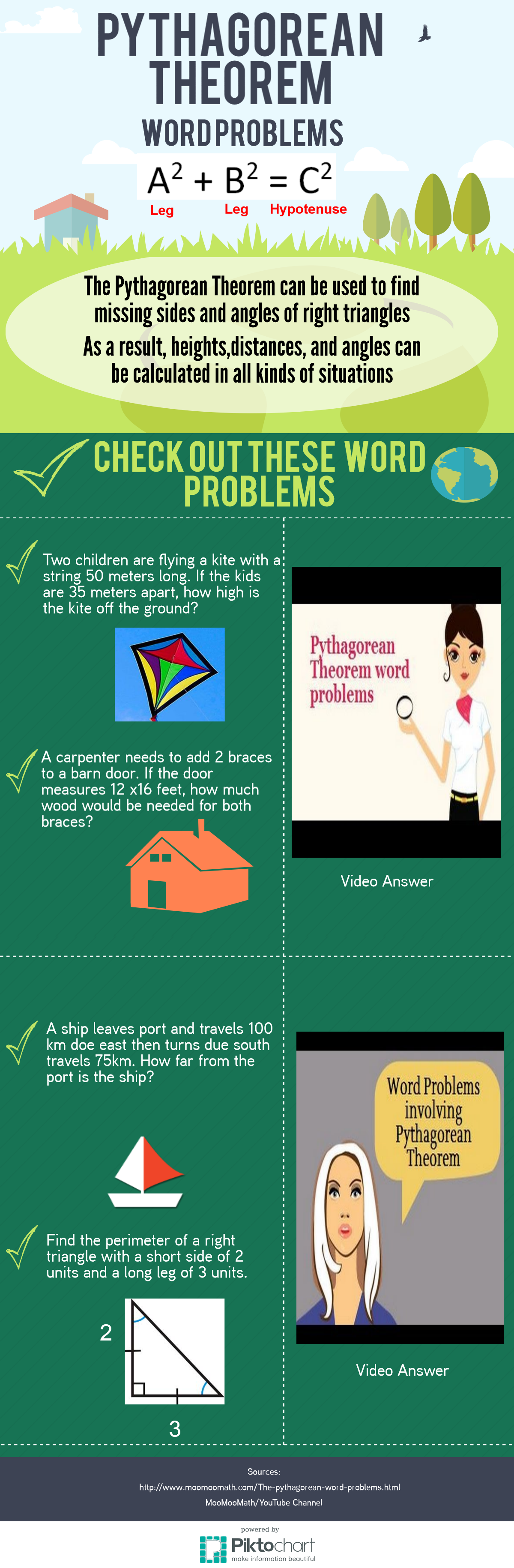 The Pythagorean Theorem Can Be Used In Geometry To Solve