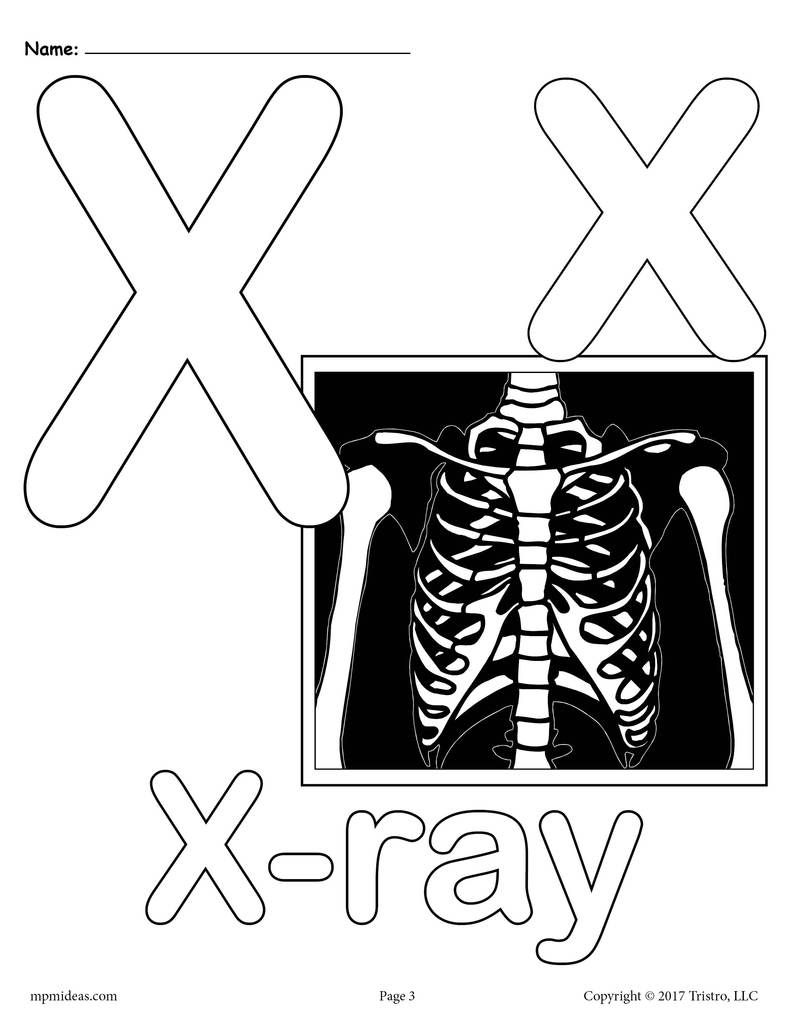 Letter X Alphabet Coloring Pages 3 Printable Versions Alphabet